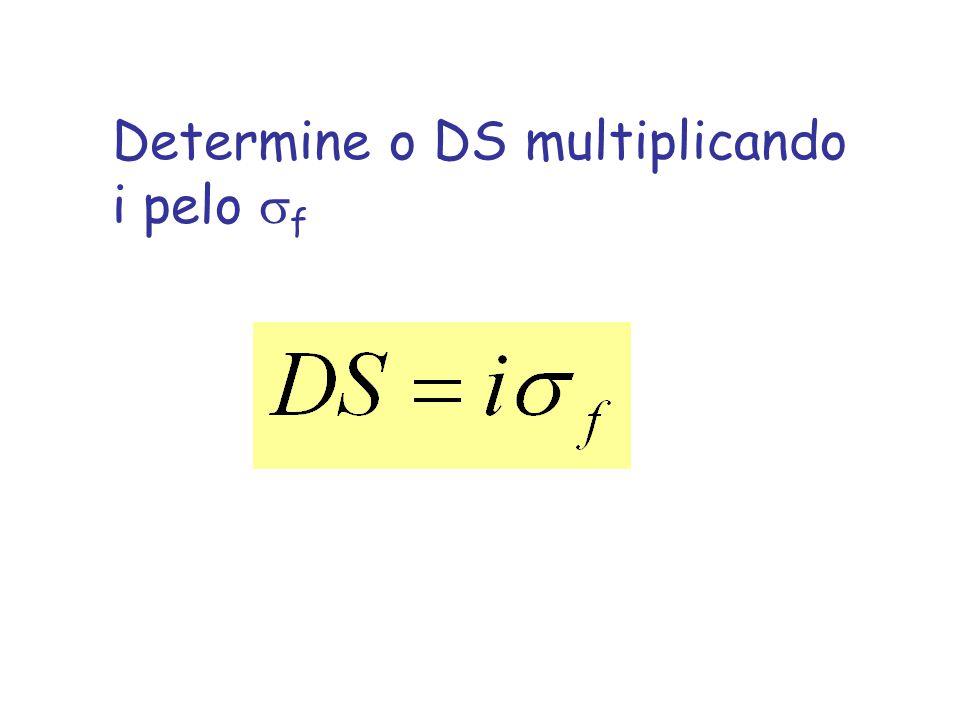 Determine o DS multiplicando i pelo f