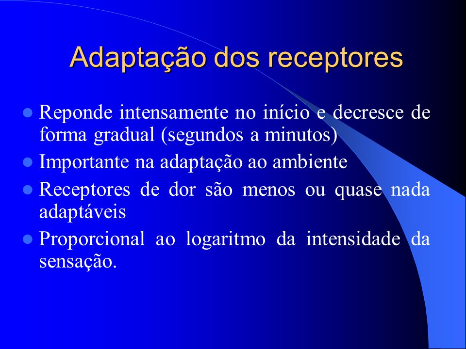 Adaptação dos receptores