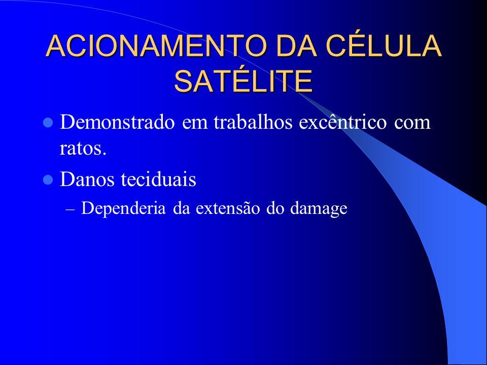 ACIONAMENTO DA CÉLULA SATÉLITE