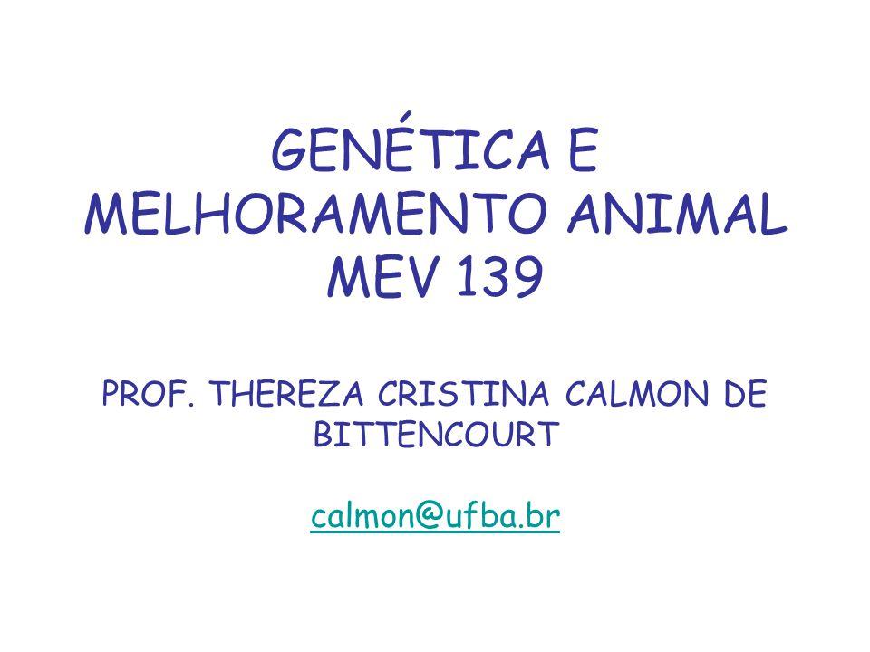 GENÉTICA E MELHORAMENTO ANIMAL MEV 139