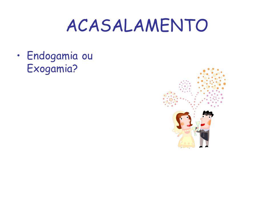 ACASALAMENTO Endogamia ou Exogamia