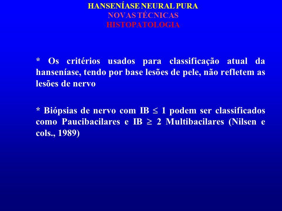 HANSENÍASE NEURAL PURA NOVAS TÉCNICAS HISTOPATOLOGIA