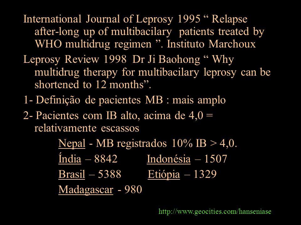 1- Definição de pacientes MB : mais amplo