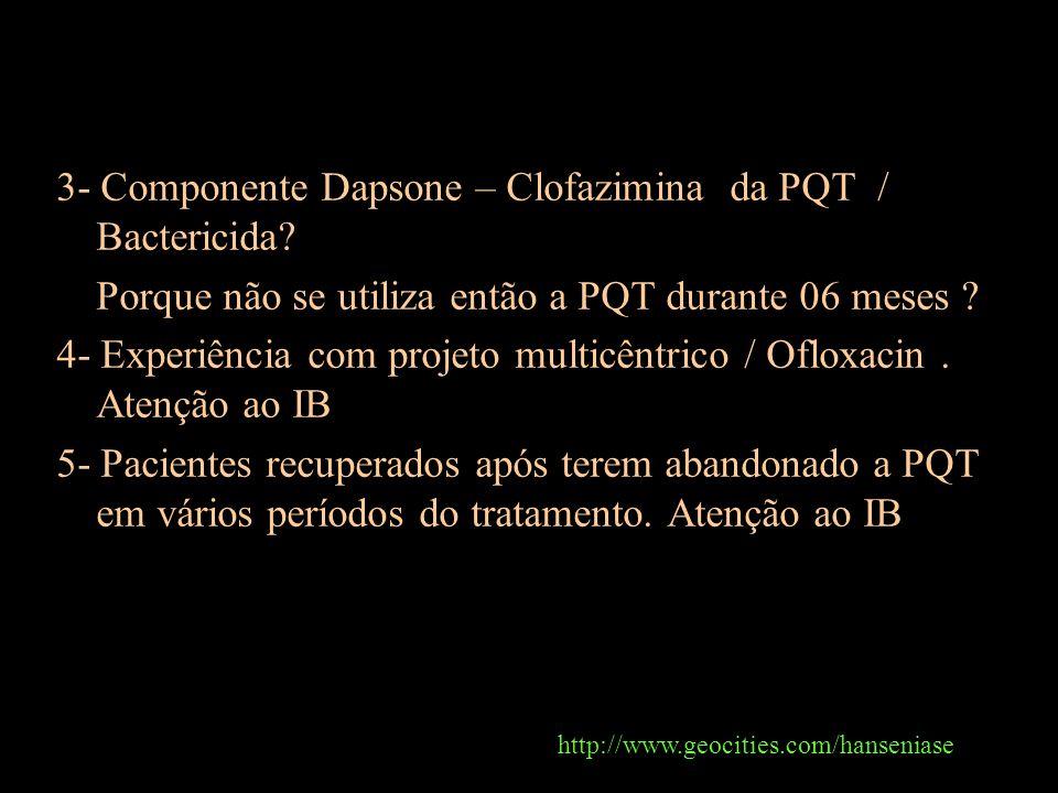 3- Componente Dapsone – Clofazimina da PQT / Bactericida