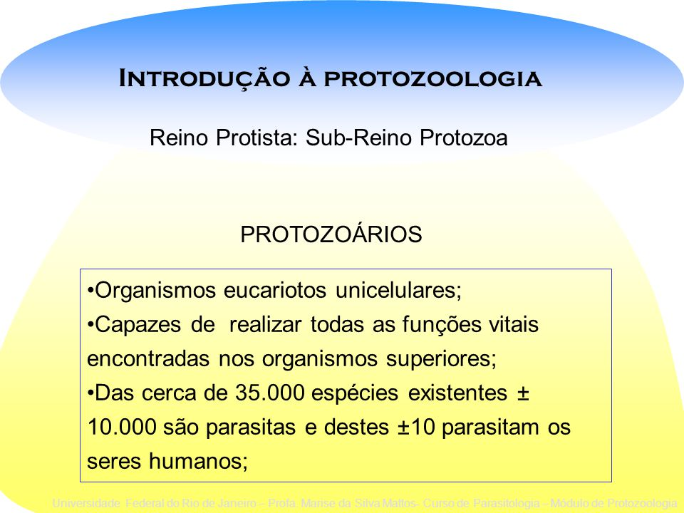 Introdução à protozoologia