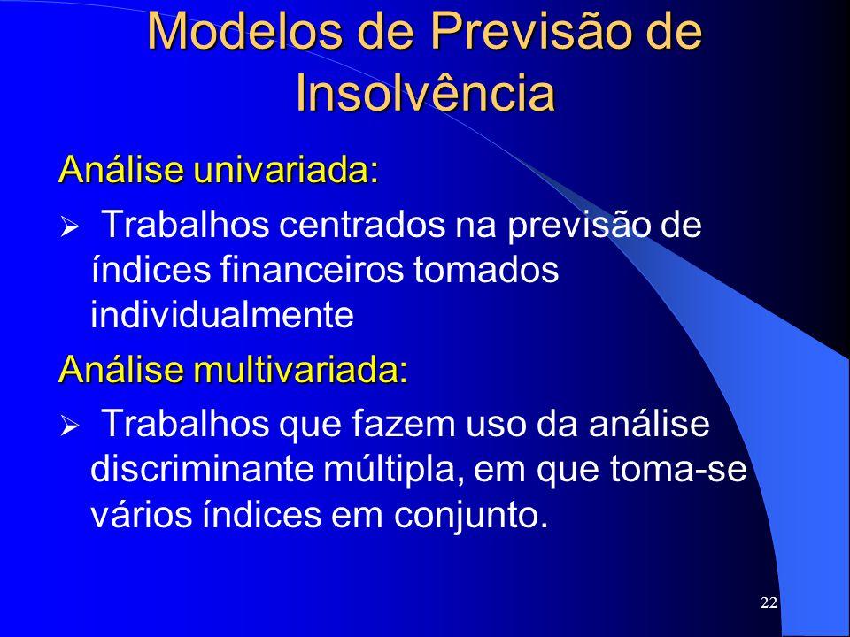 Modelos de Previsão de Insolvência