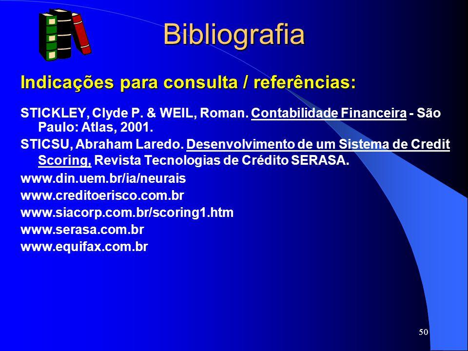 Bibliografia Indicações para consulta / referências: