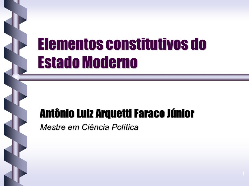 Elementos constitutivos do Estado Moderno