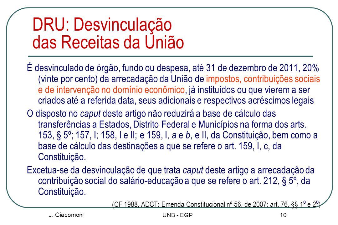 DRU: Desvinculação das Receitas da União
