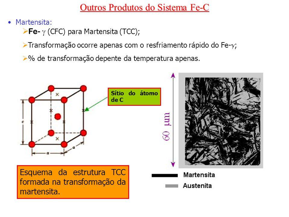 Outros Produtos do Sistema Fe-C