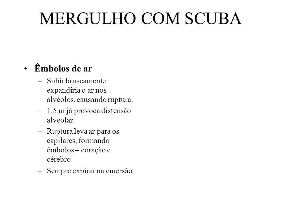 MERGULHO COM SCUBA Êmbolos de ar