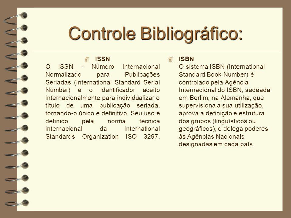 Controle Bibliográfico: