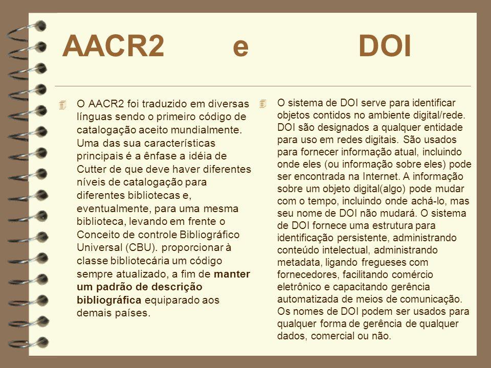 AACR2 e DOI