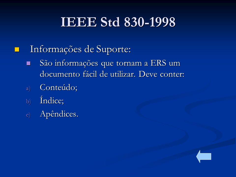 IEEE Std 830-1998 Informações de Suporte: