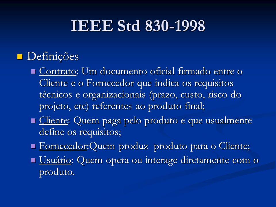 IEEE Std 830-1998 Definições.