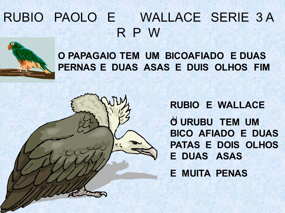 RUBIO PAOLO E WALLACE SERIE 3 A R P W