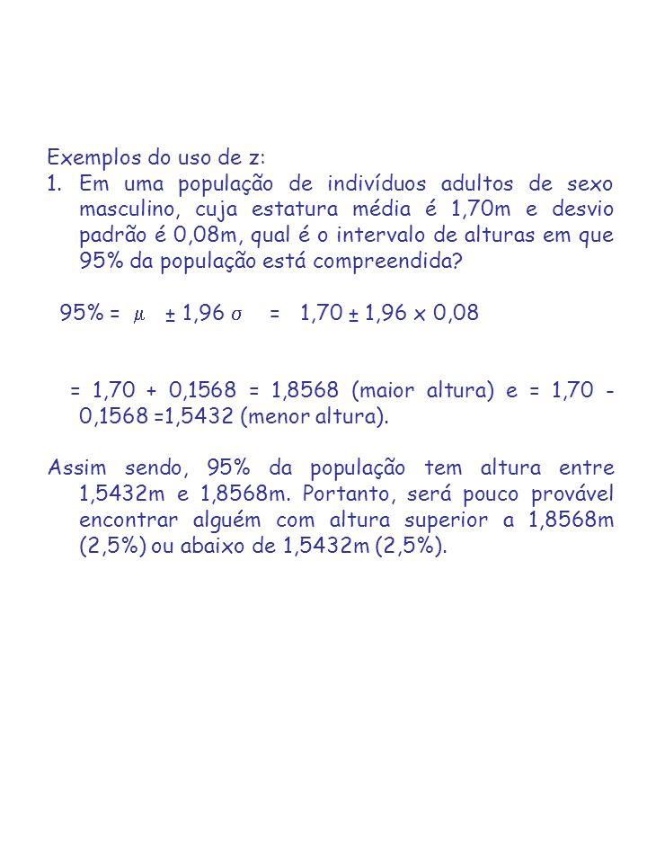 Exemplos do uso de z: