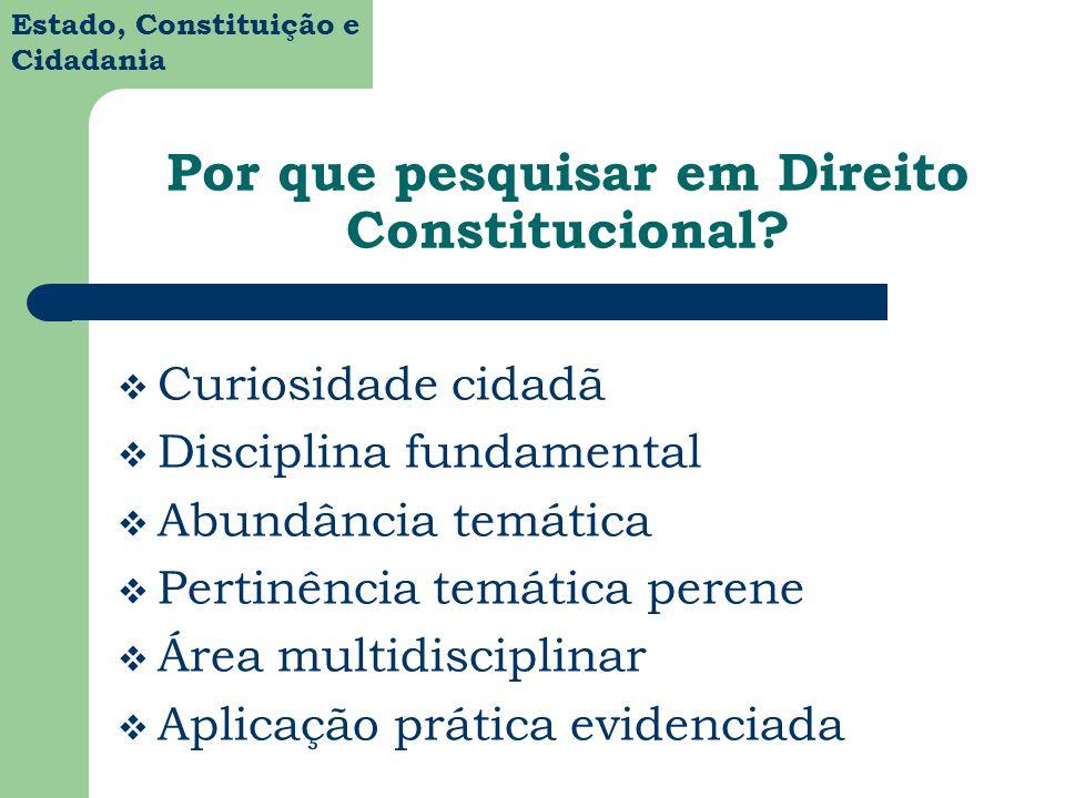 Por que pesquisar em Direito Constitucional