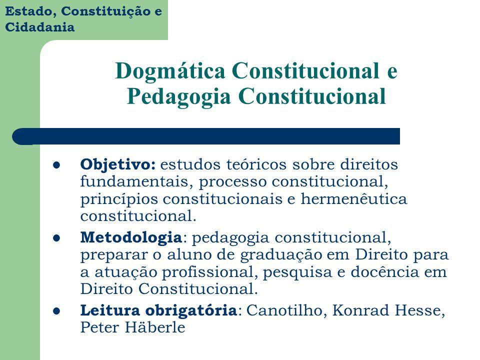 Dogmática Constitucional e Pedagogia Constitucional
