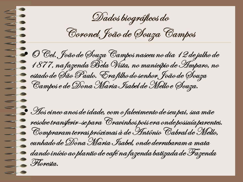 Dados biográficos do Coronel João de Souza Campos