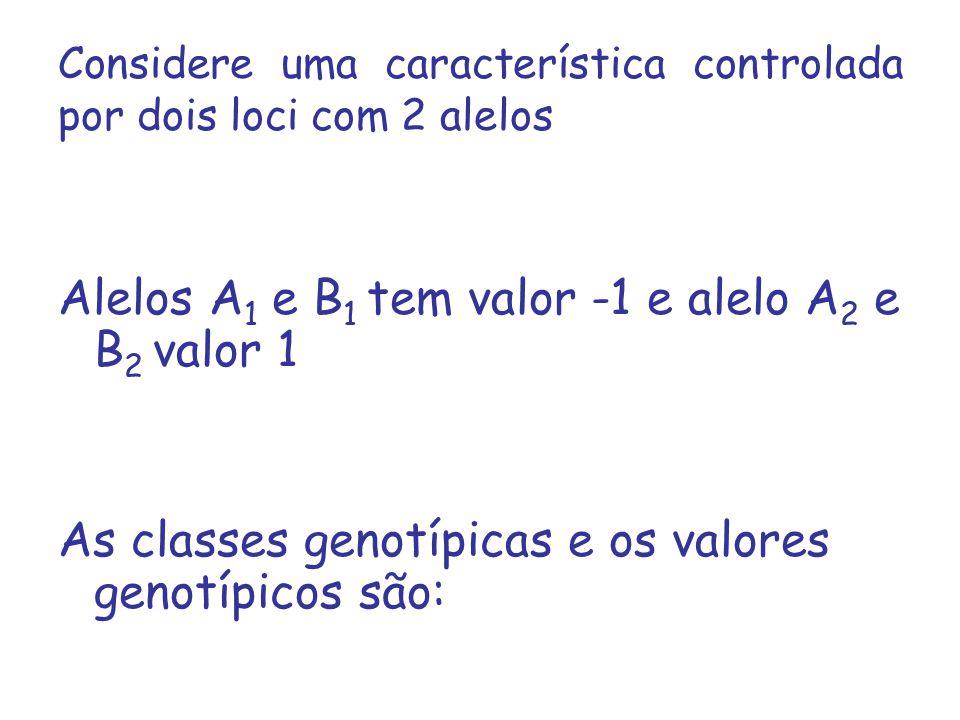 Considere uma característica controlada por dois loci com 2 alelos