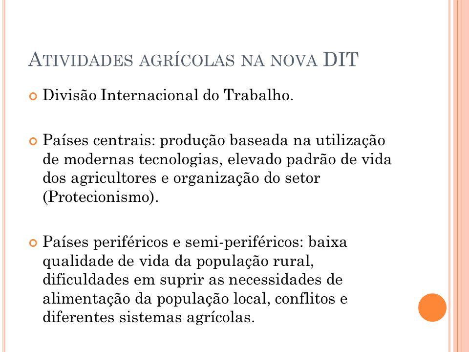 Atividades agrícolas na nova DIT