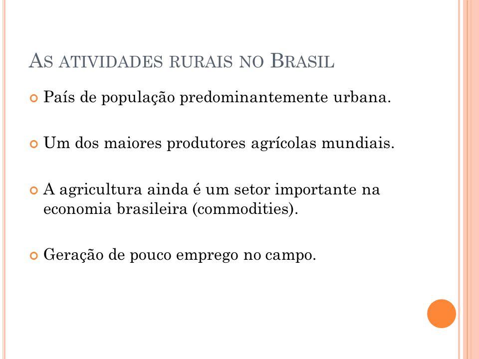 As atividades rurais no Brasil