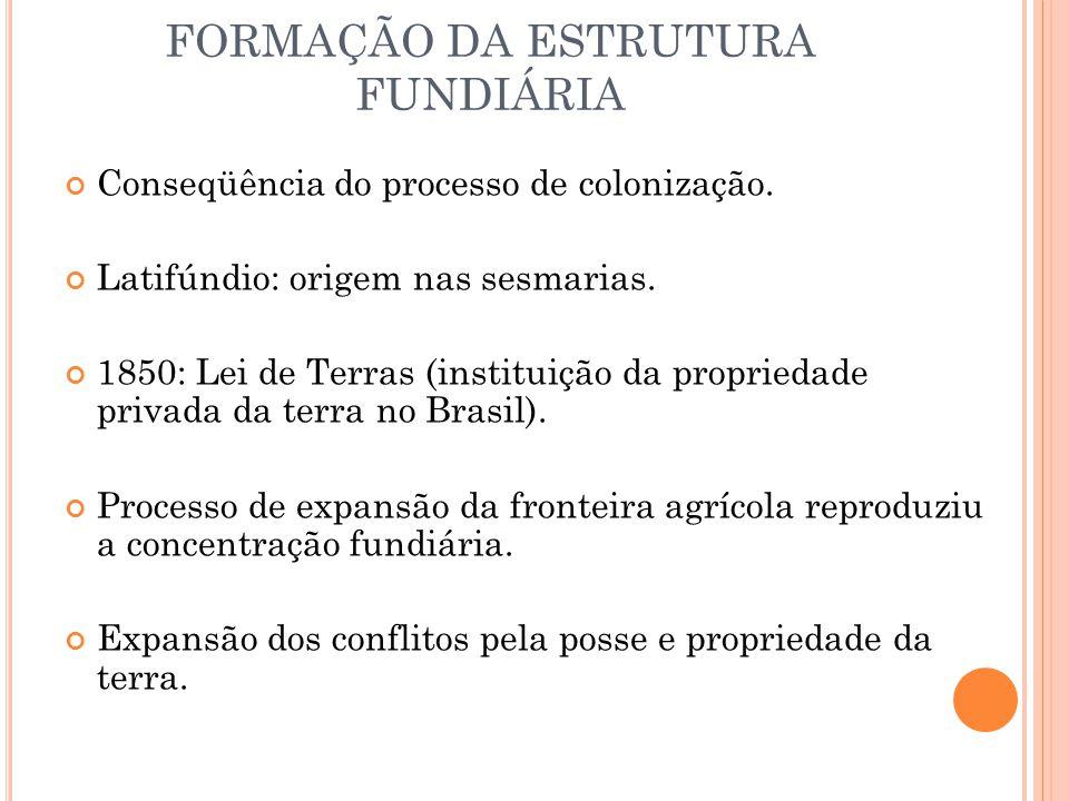 FORMAÇÃO DA ESTRUTURA FUNDIÁRIA