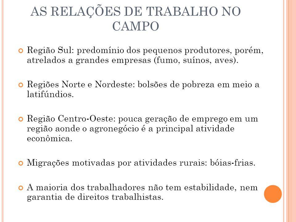 AS RELAÇÕES DE TRABALHO NO CAMPO