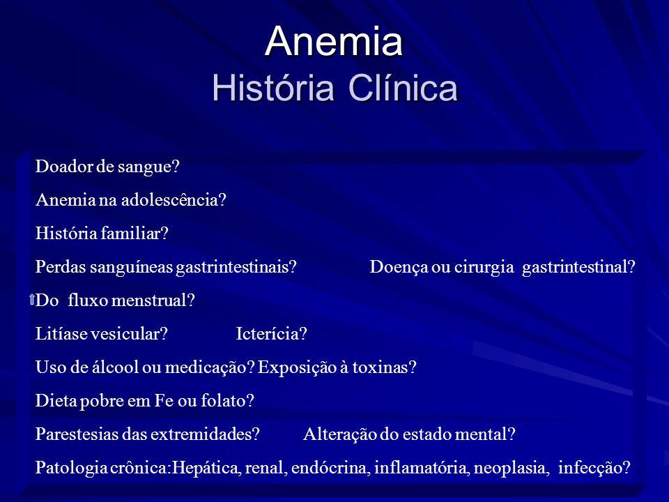 Anemia História Clínica