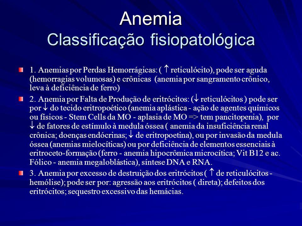 Anemia Classificação fisiopatológica