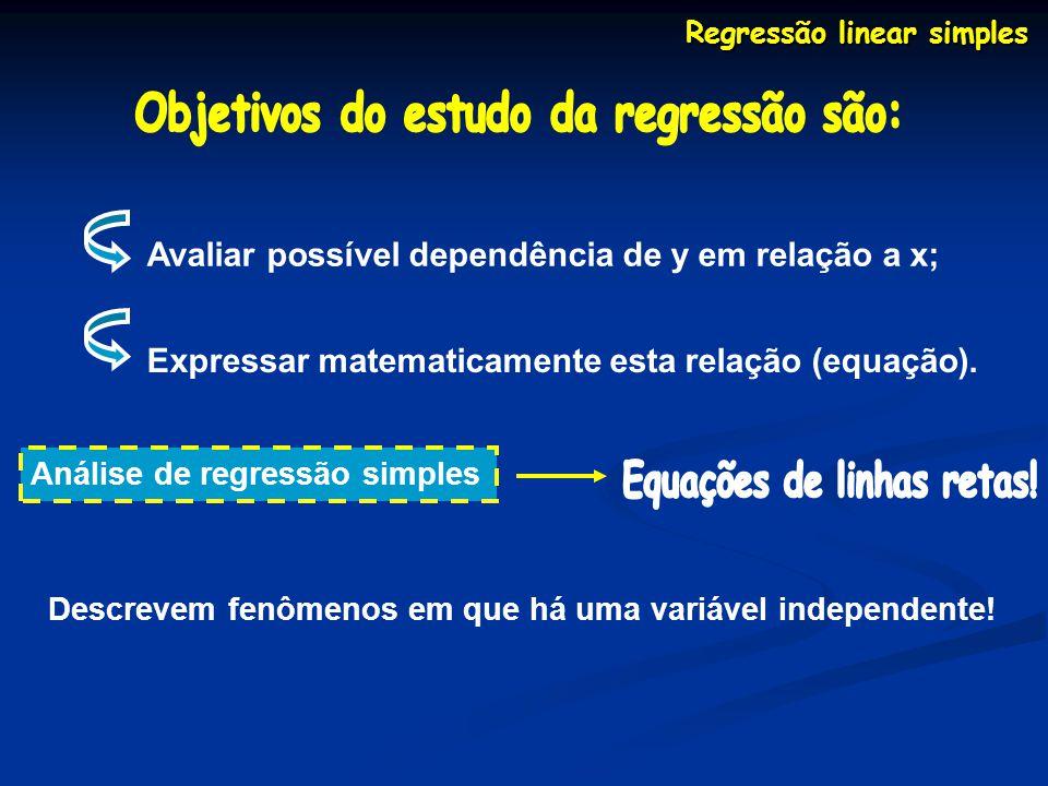 Objetivos do estudo da regressão são: