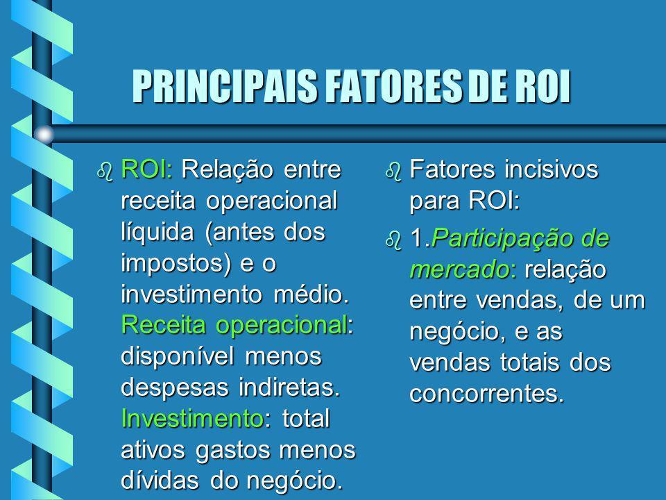 PRINCIPAIS FATORES DE ROI