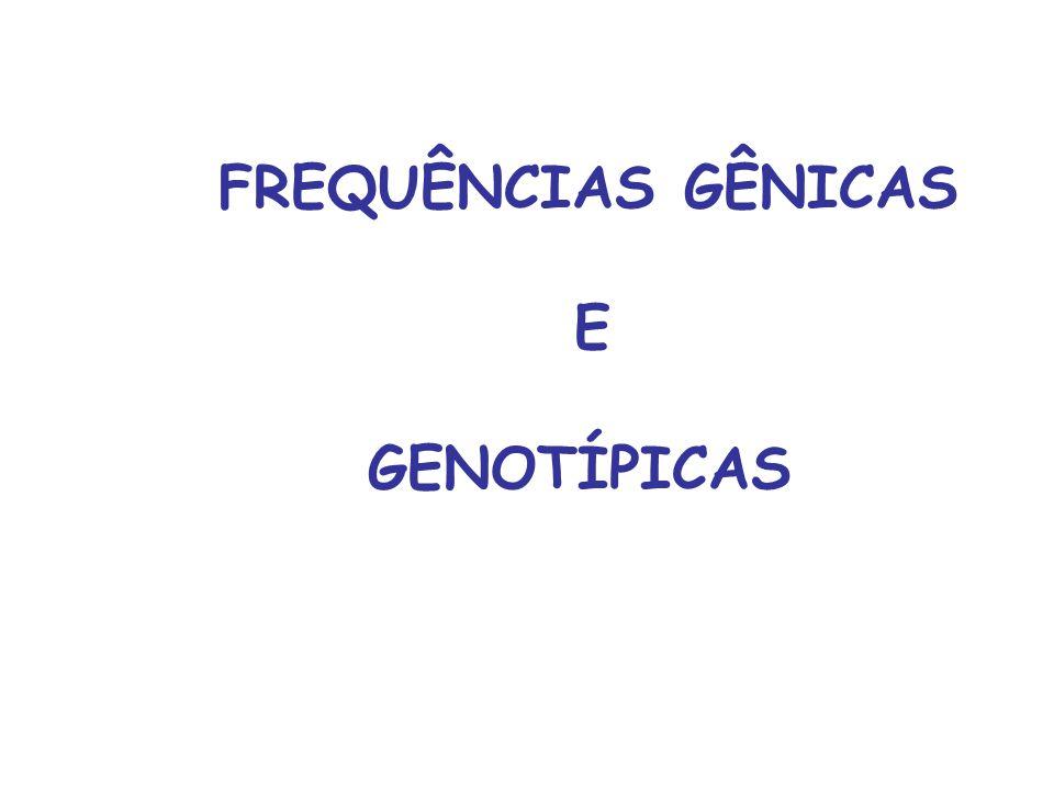 FREQUÊNCIAS GÊNICAS E GENOTÍPICAS