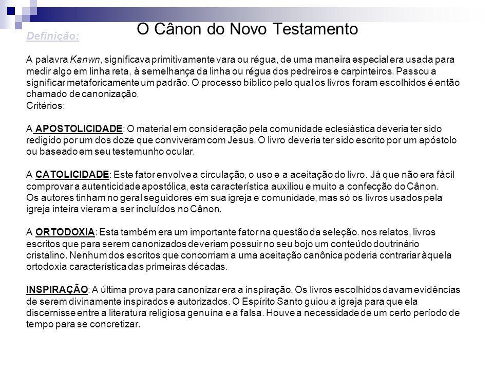 O Cânon do Novo Testamento