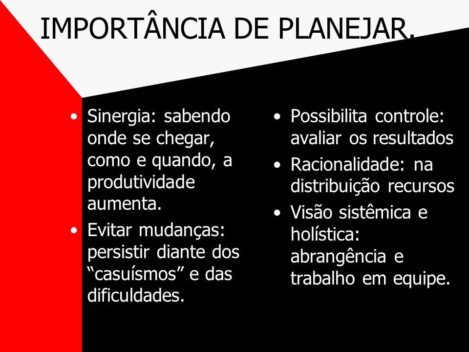 IMPORTÂNCIA DE PLANEJAR.
