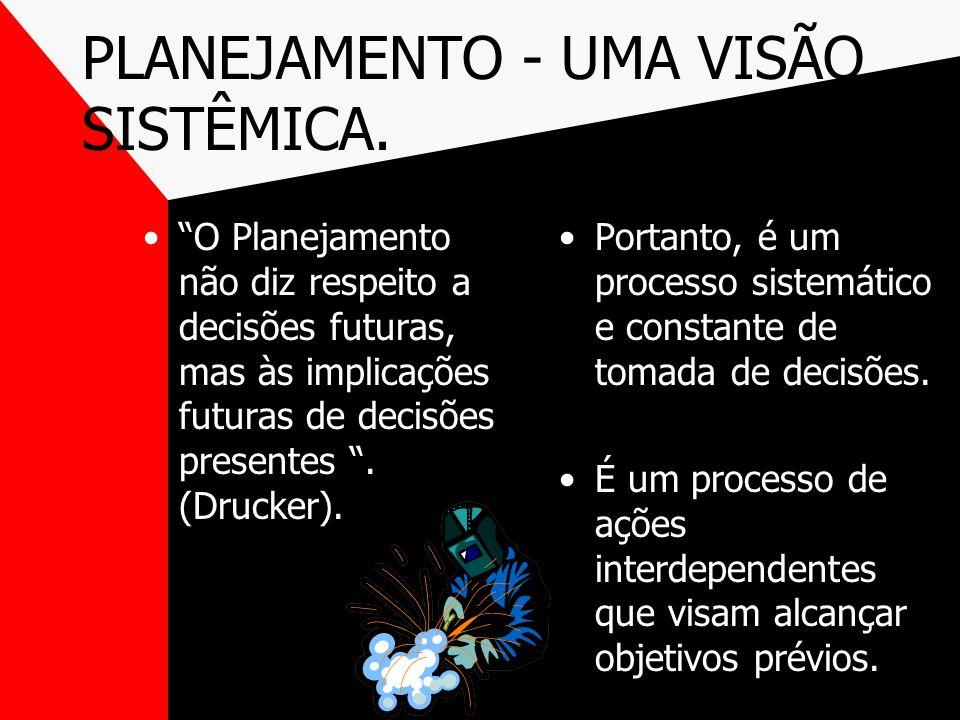 PLANEJAMENTO - UMA VISÃO SISTÊMICA.