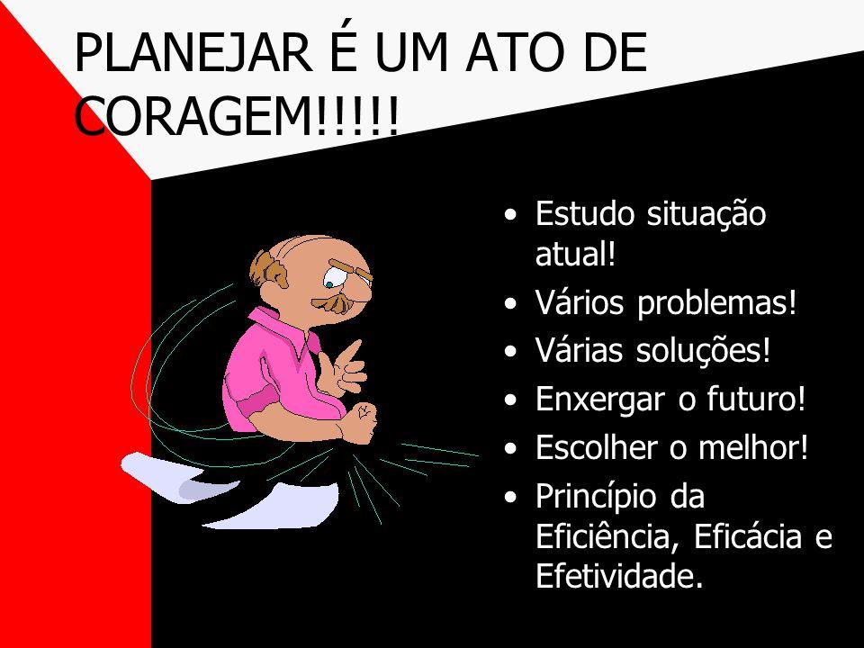 PLANEJAR É UM ATO DE CORAGEM!!!!!
