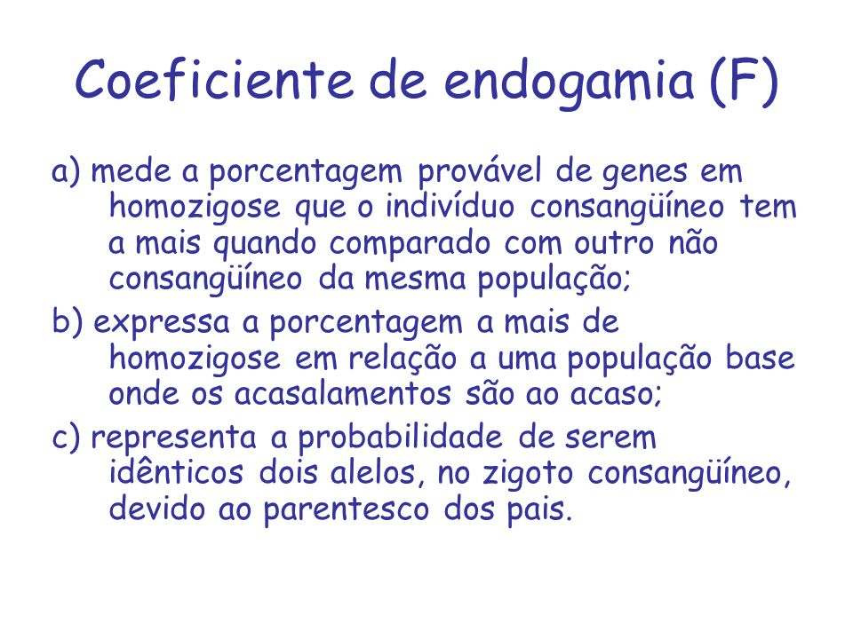 Coeficiente de endogamia (F)