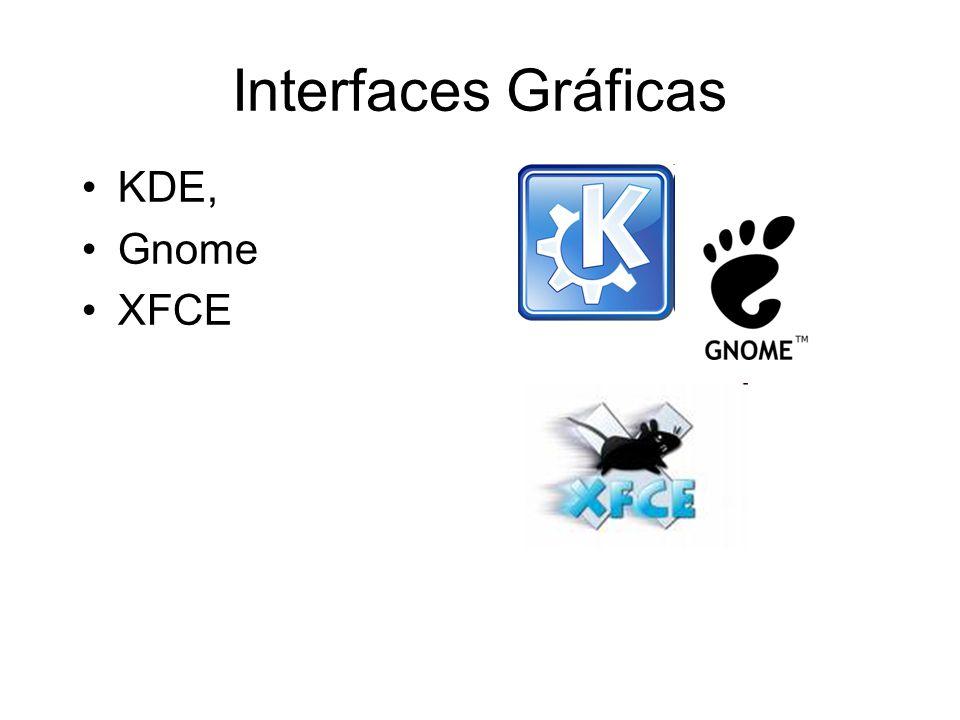 Interfaces Gráficas KDE, Gnome XFCE