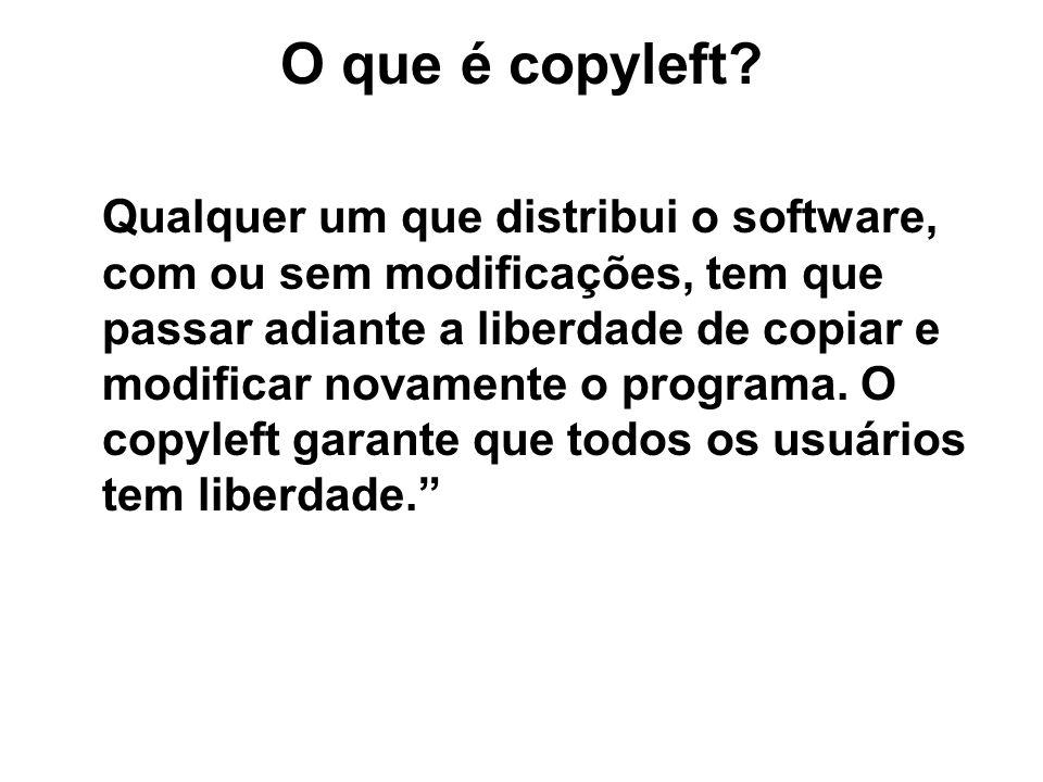 O que é copyleft