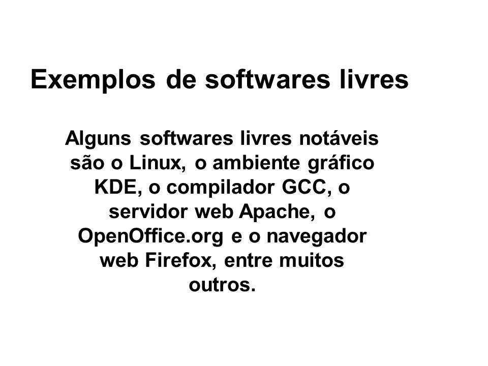 Exemplos de softwares livres