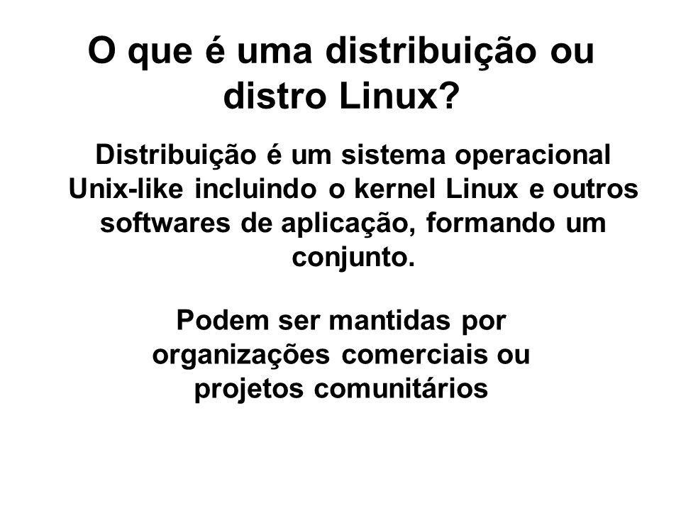 O que é uma distribuição ou distro Linux