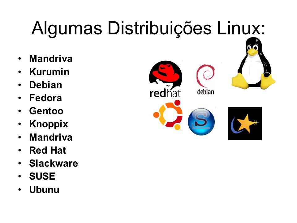 Algumas Distribuições Linux: