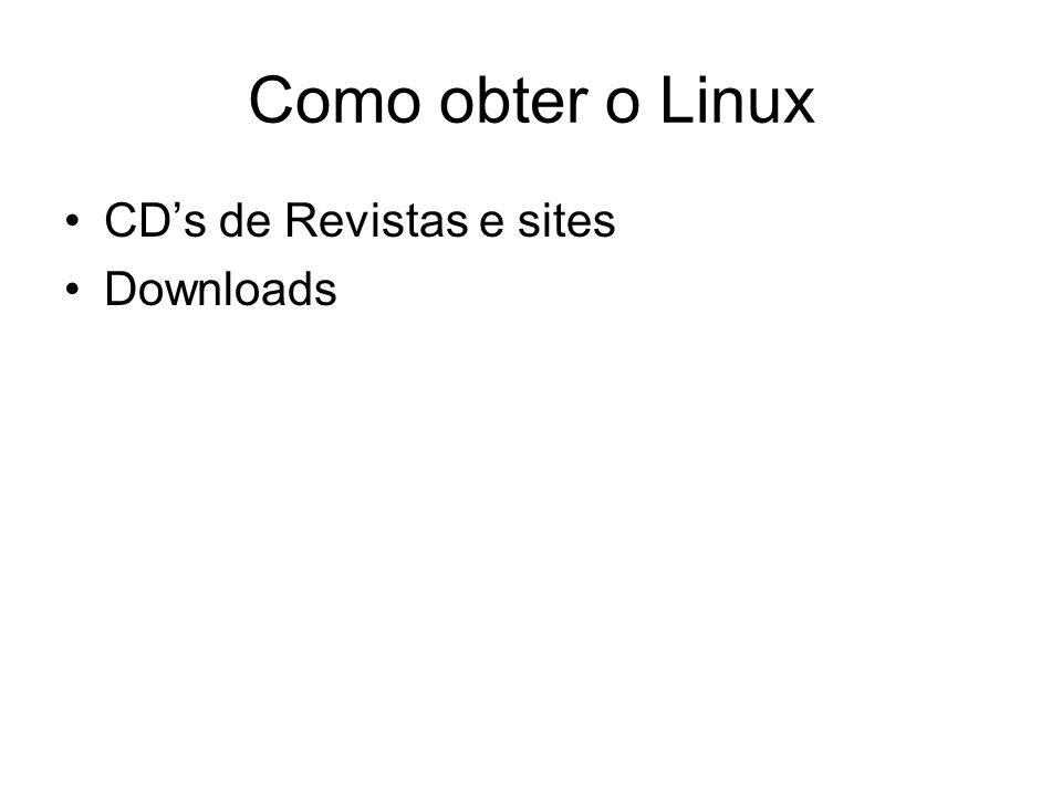 Como obter o Linux CD's de Revistas e sites Downloads