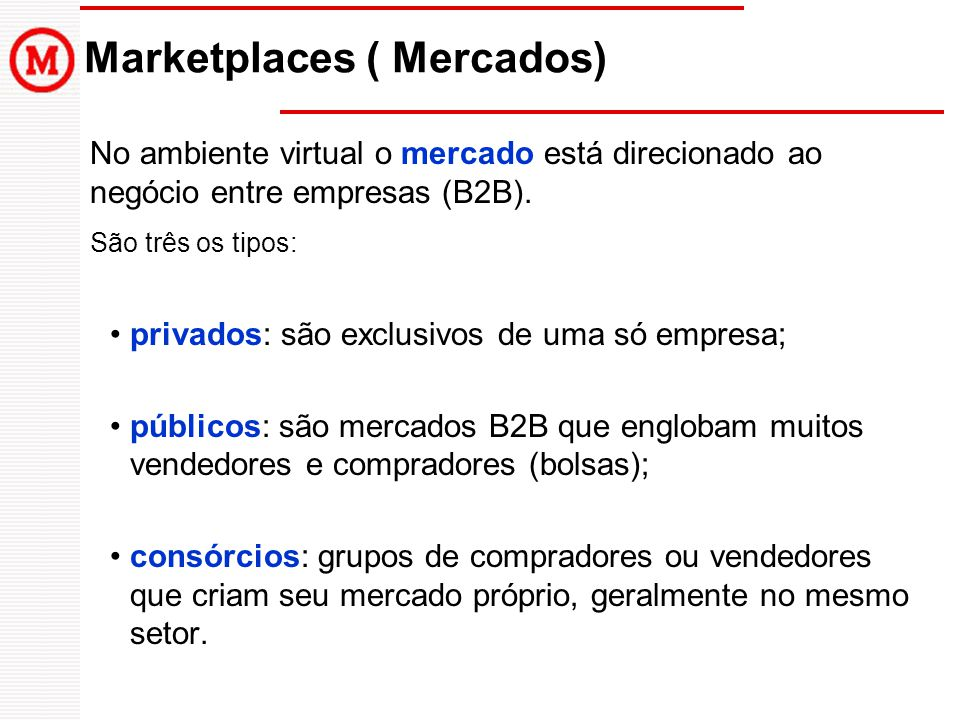 Marketplaces ( Mercados)