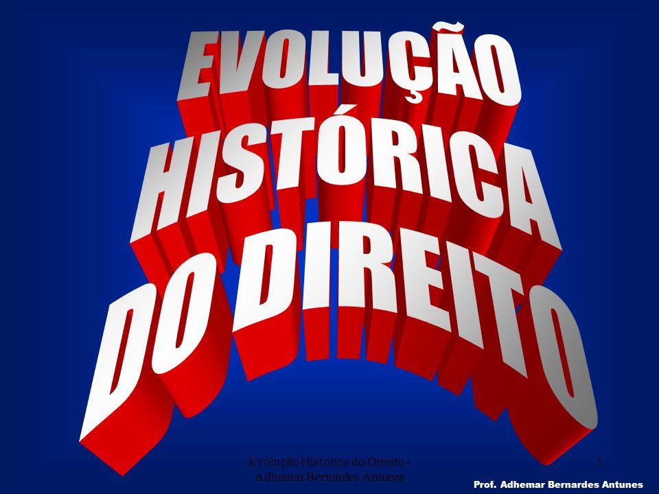 Evolução Histórica do Direito - Adhemar Bernardes Antunes