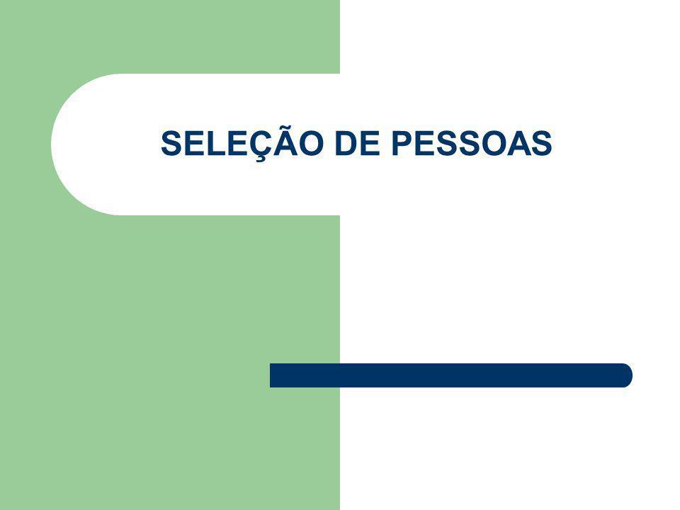 SELEÇÃO DE PESSOAS