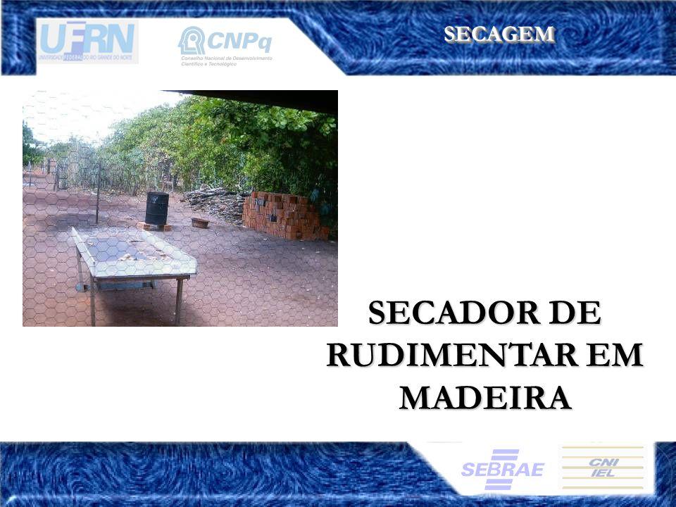 SECADOR DE RUDIMENTAR EM MADEIRA