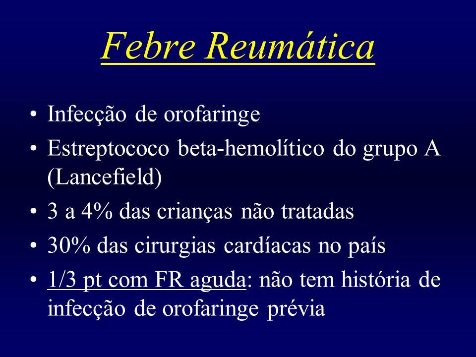Febre Reumática Infecção de orofaringe